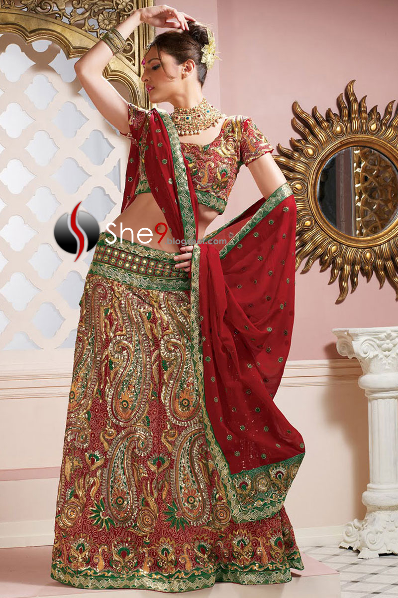 Free images online indian bridal wear 2011 collection for Indian traditional wedding dress