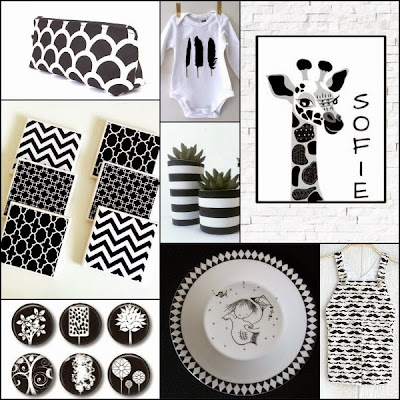 Black and White Handmade Gifts