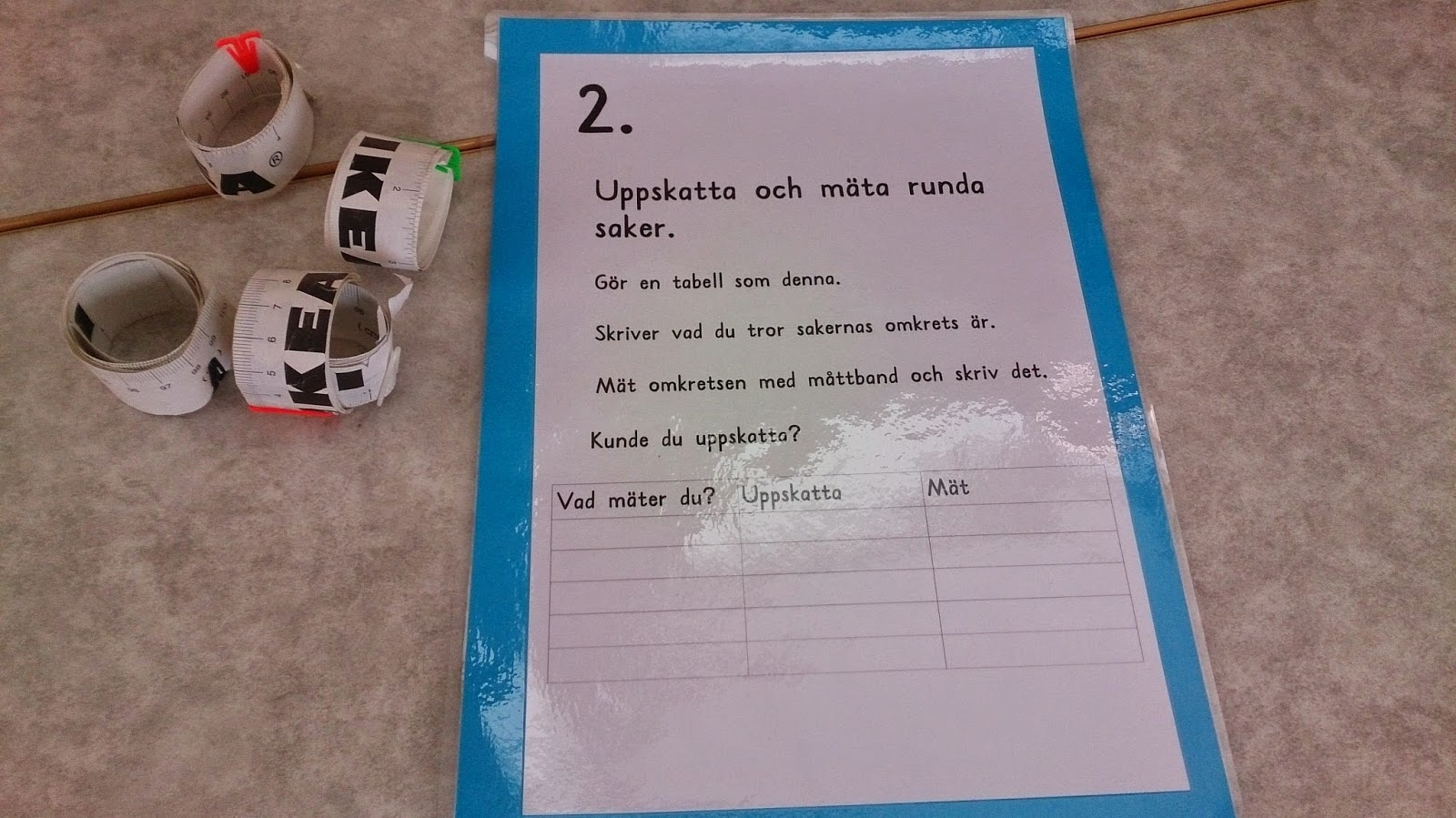 Inredning mät runda : Klassrumsglimtar : Vecka 19