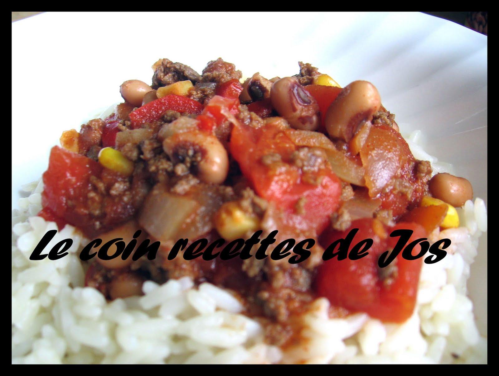Chili con carne maison recette - Chili con carne maison ...