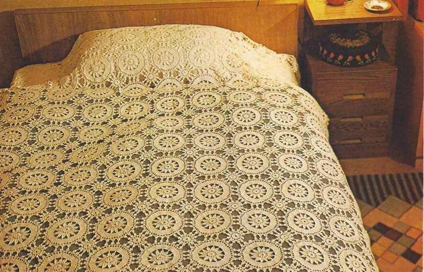 "#26 Sobrecama ""Champagne"" a Crochet"