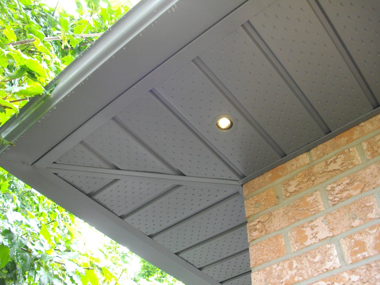 on how to light a basic entrance and run wiring in existing soffits