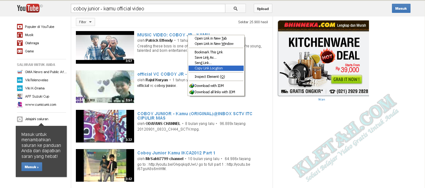 ... convert video youtube menjadi MP3 dialamat http://www.youtube-mp3.org