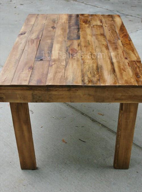 diy pallet dining table plans plans free. Black Bedroom Furniture Sets. Home Design Ideas