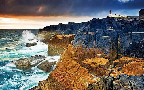 Scotland Neist point rocks
