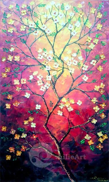 lukisan bunga ranting