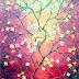 Lukisan Pohon Ranting Berbunga Mungil MB-072