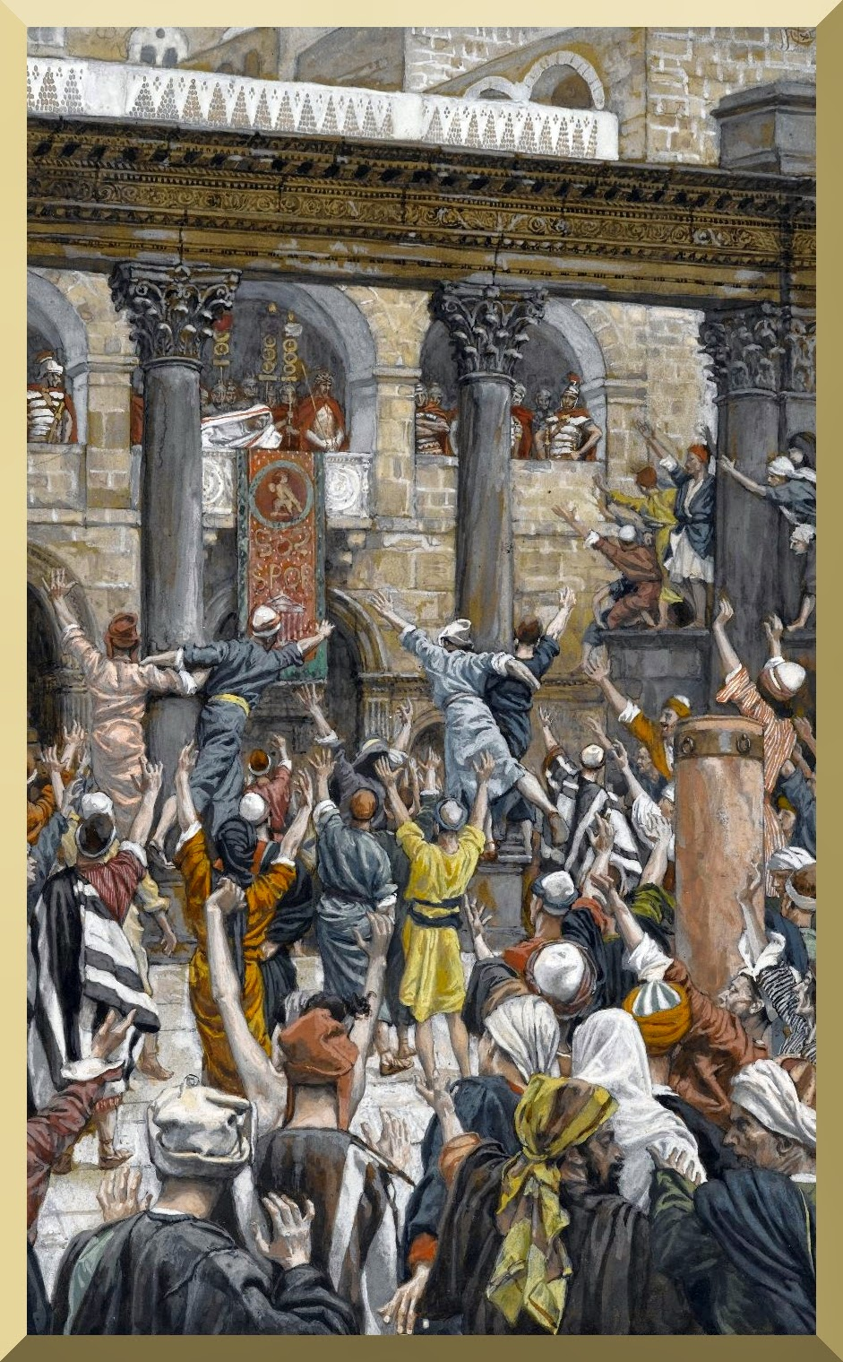 """Let Him Be Crucified"" -- by James Tissot"
