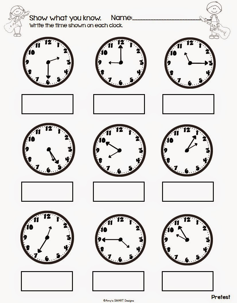 Worksheet Learning The Clock Worksheets smart classroom designs active learning rockin around the i begin by assessing students with a pretest from my clock worksheet pack