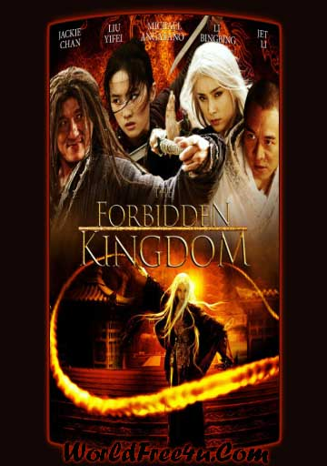Poster Of The Forbidden Kingdom (2008) In Hindi English Dual Audio 300MB Compressed Small Size Pc Movie Free Download Only At worldfree4u.com