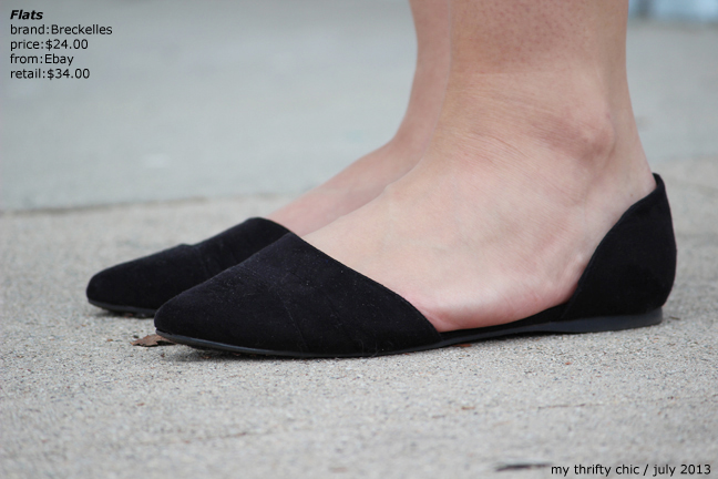 pointed toe black flats