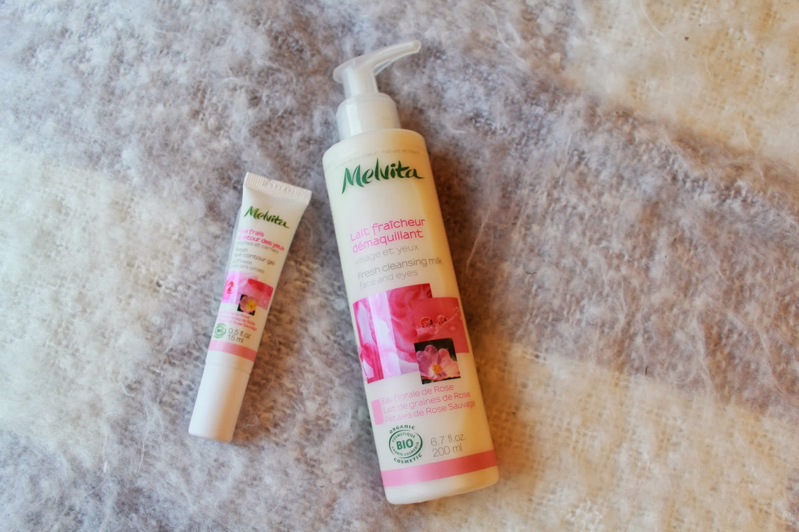 Melvita Cleanser and Eye Contour Gel