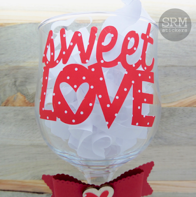 SRM Stickers Blog - Sweet Love Vinyl by Annette - #vinyl #patternedvinyl #valentine #altered #gift #love #DIY