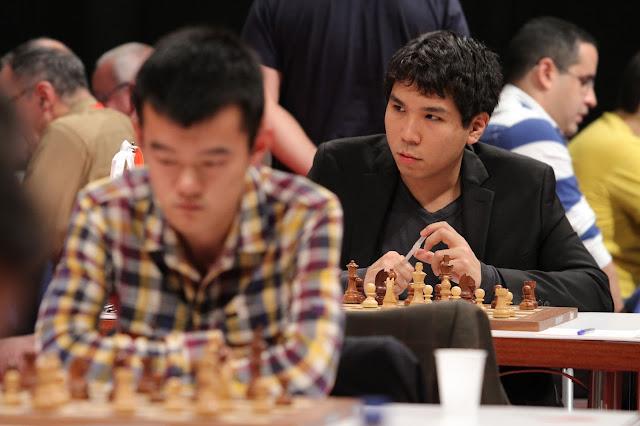 Diren Ling y Wesley So en el Bilbao Chess 2015
