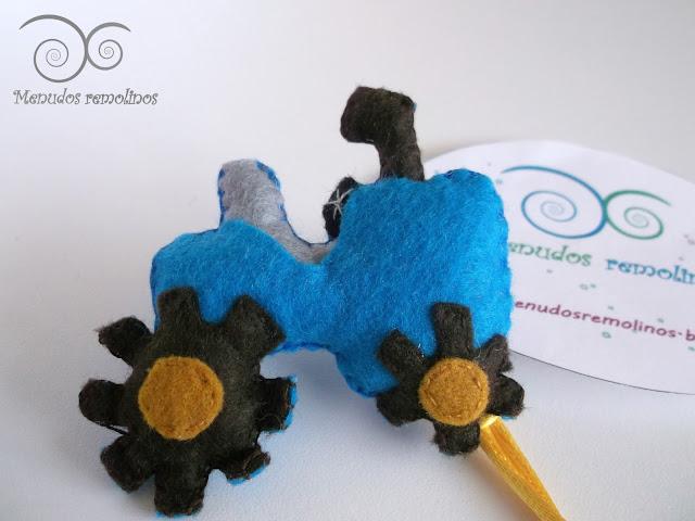 Chupetero Tractor Azul