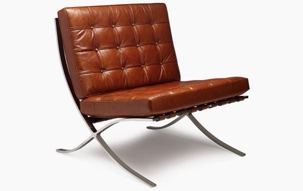 fauteuil Barcelona en cuir