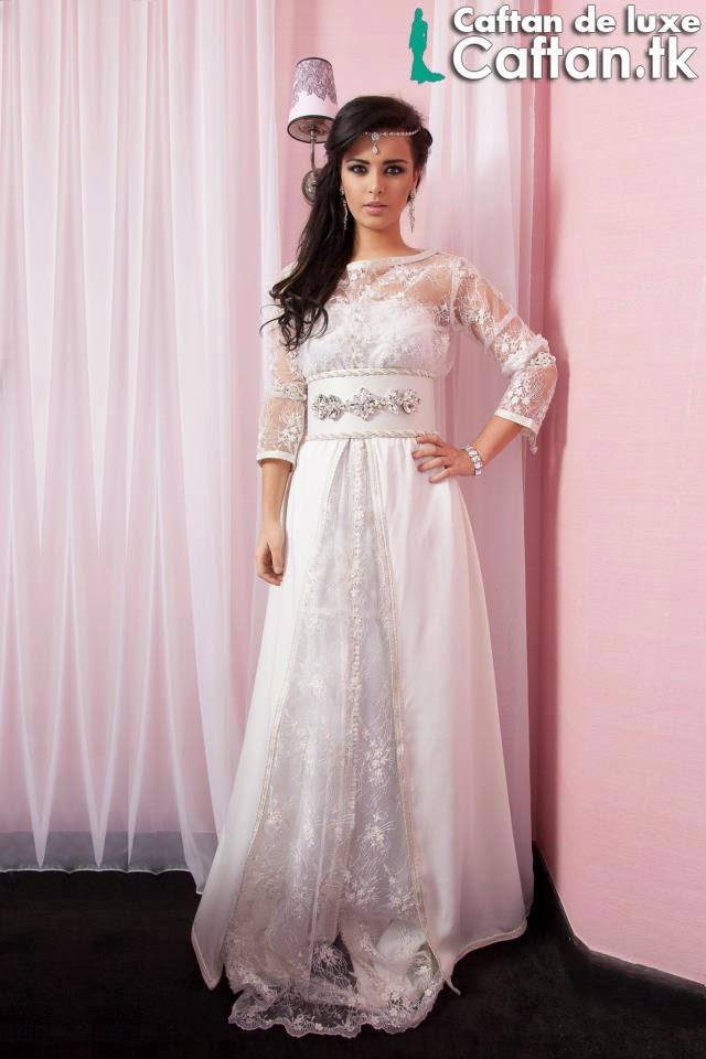 Caftan 2014 | robe de soirée blanche haute couture