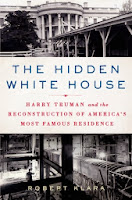 book cover of The Hidden White House shows two pictures of the White House under reconstruction