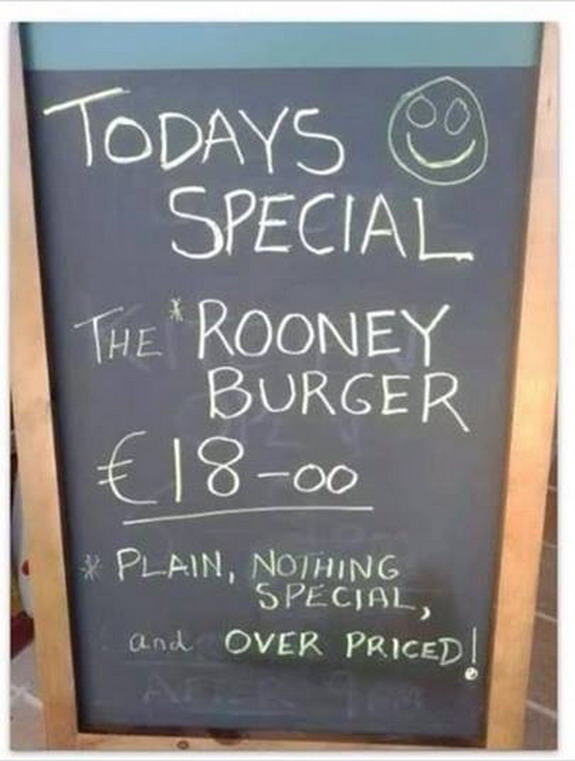 Manchester restaurant start selling 'over-priced' Wayne Rooney burger
