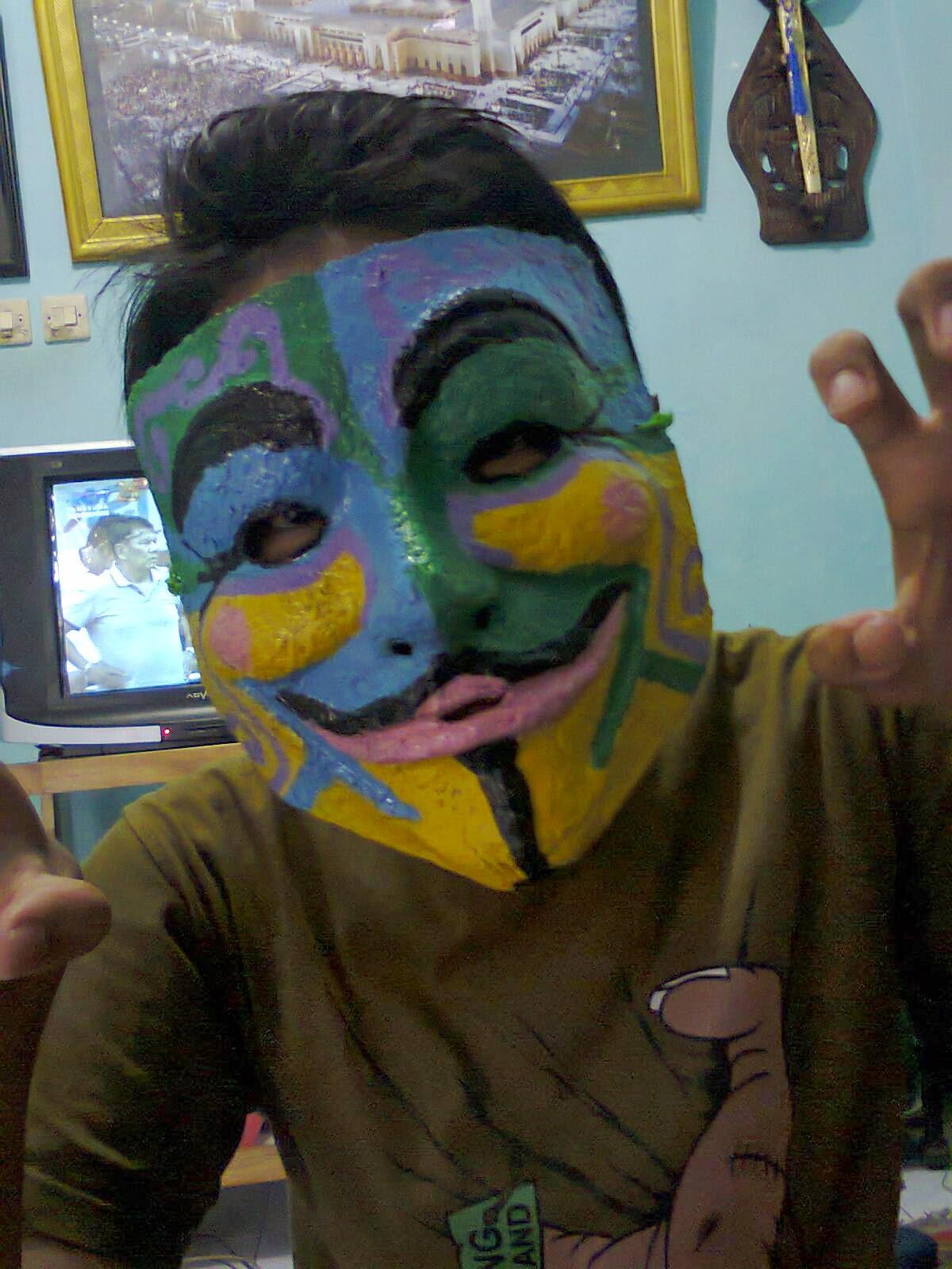 Cara Mudah Membuat Topeng Anonymous Dan Hasil Yang Sudah Jadi