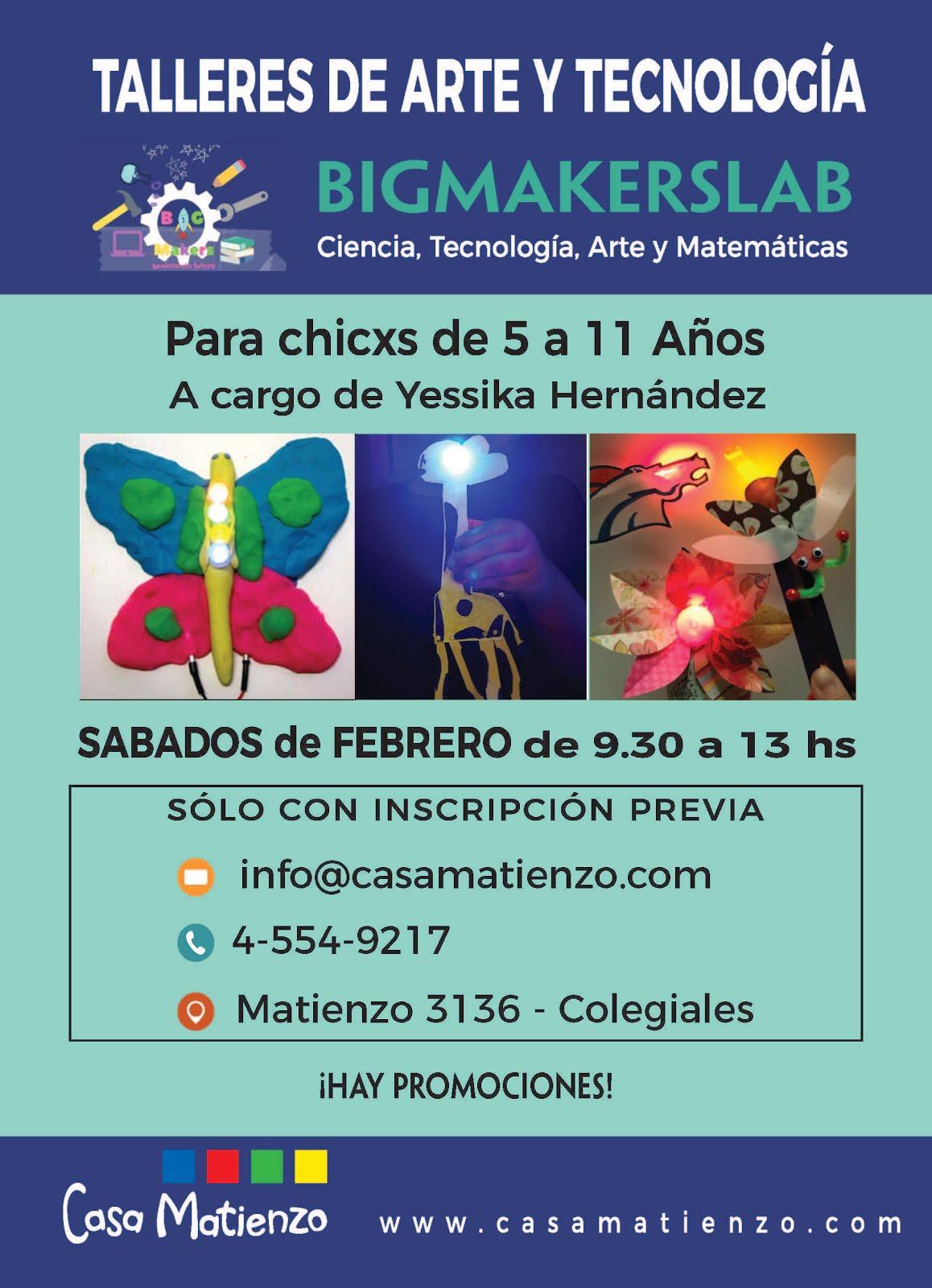 TALLER DE ARTE Y  TECNOLOGÍA para chicxos de 5 a 11 años