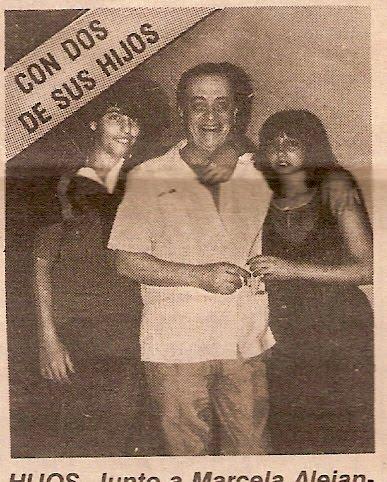 Hugo del Carril con dos de sus hijos