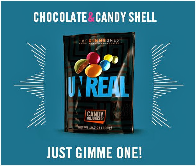 CLICK to order UNREAL candy coated chocolates from Amazon.