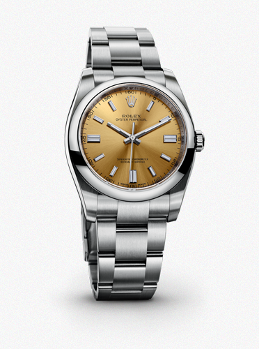 ROLEX OYSTER PERPETUAL WHITE GRAPE