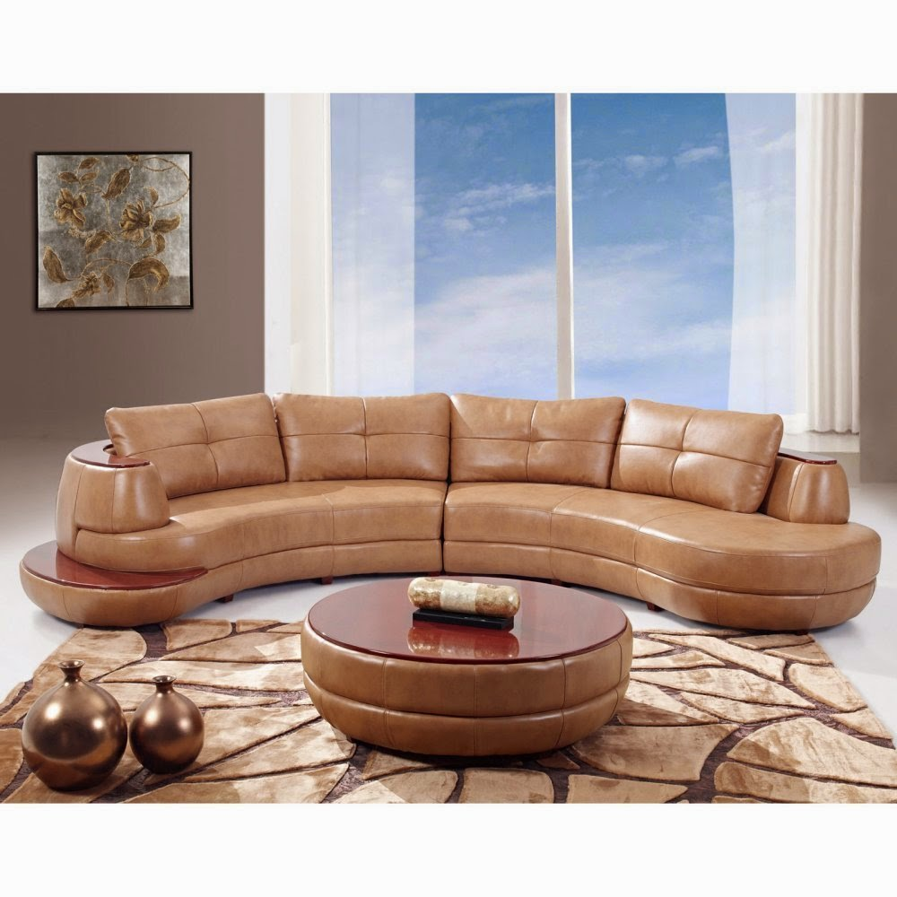 Global Curved Sofa Leather