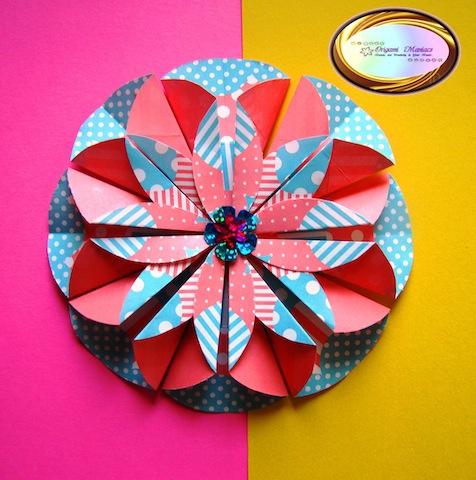 Origami maniacs scrapbook and origami flower dahlia mightylinksfo