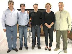 Com Andreas Patounas e Jorge Oro