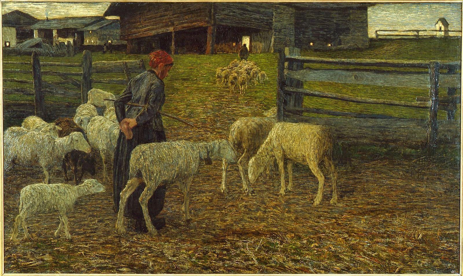 Ritorno all'ovile, Giovanni Segantini (1888)