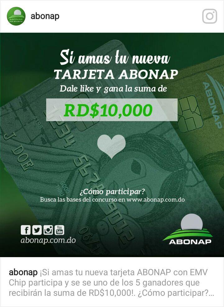 Like y Gana con ABONAP