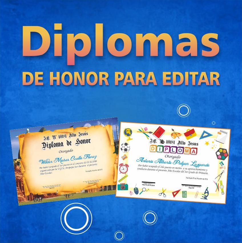 diseños de diplomas de honor para imprimir la web del diseñador