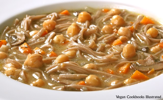 Vegan Cookbooks Illustrated: Chickpea Noodle Soup