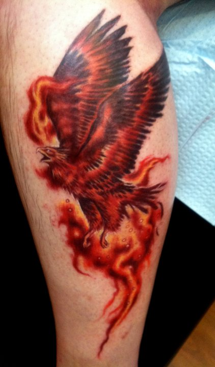Arrows and embers custom tattooing phoenix tattoo done by for New hampshire tattoo