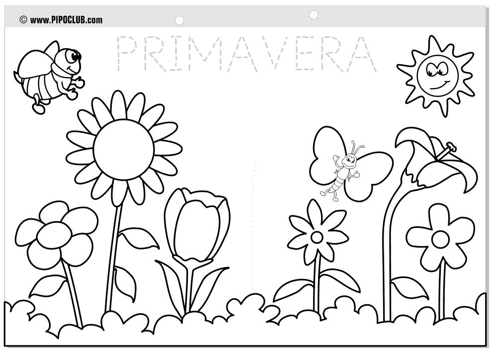 Excelente Páginas Para Colorear Para Las Vacaciones De Primavera ...
