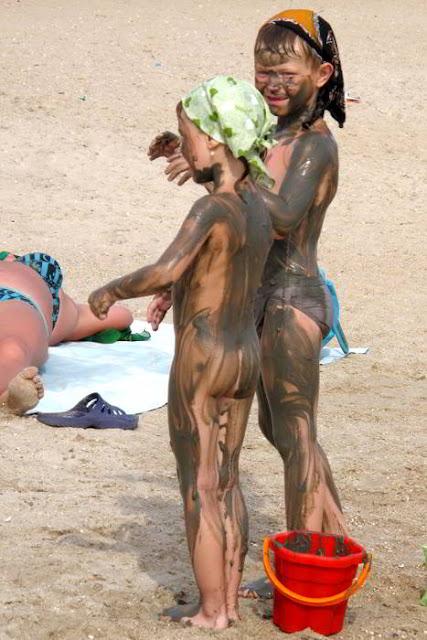 дети на азовском пляже