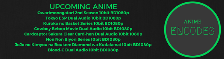 Upcoming Anime