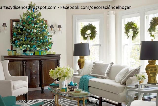 IDEAS PARA DECORAR SALAS EN NAVIDAD by artesydisenos.blogspot.com