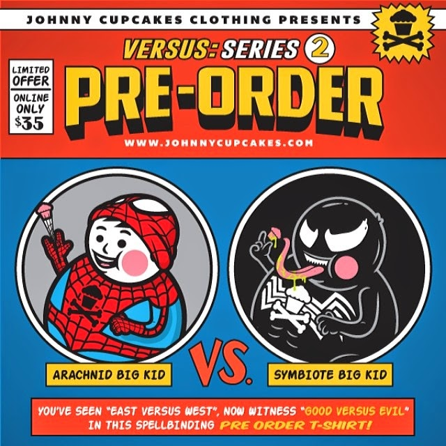 Johnny Cupcakes Versus Series 2 Big Kid T-Shirts - Spider-Man vs Venom