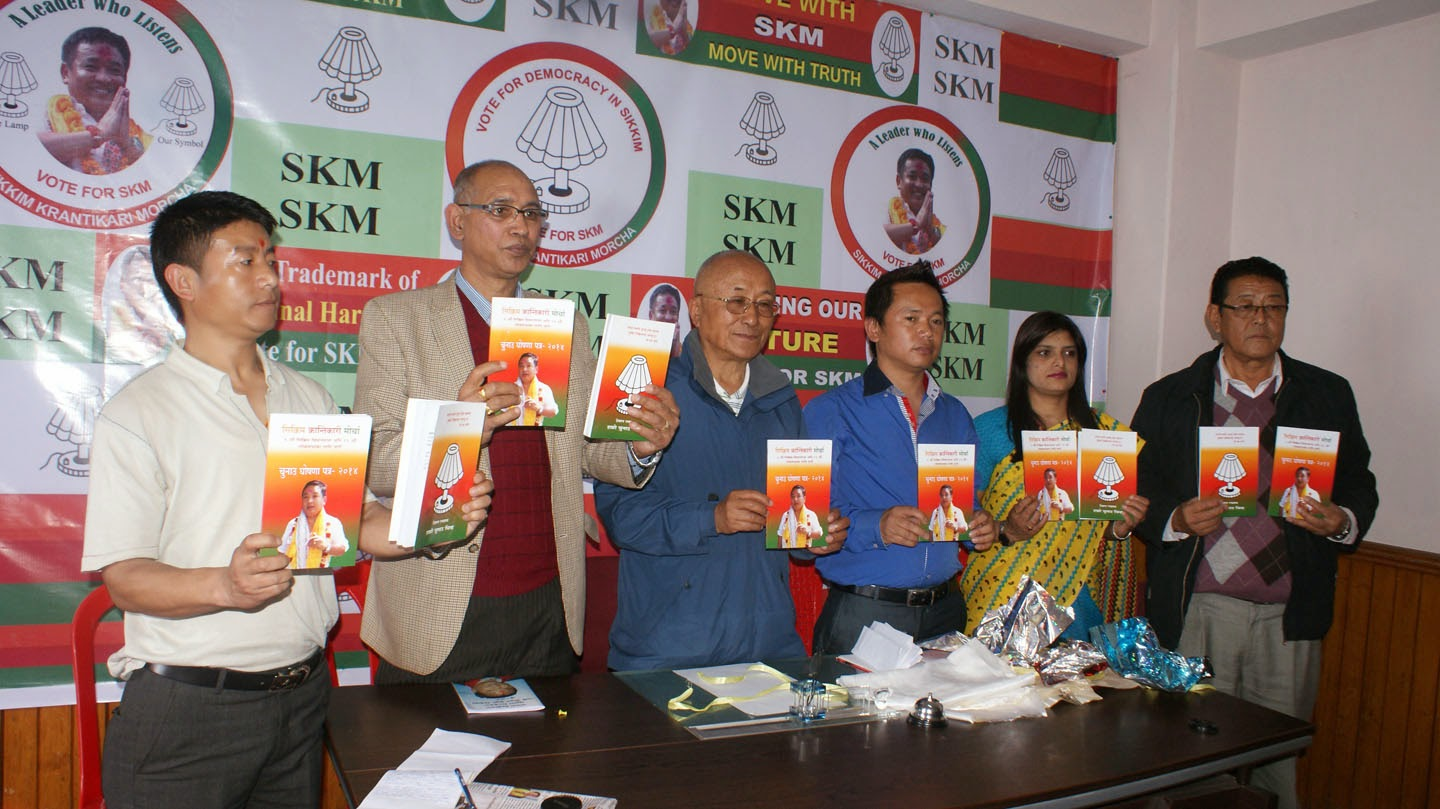 Sikkim Now Skm Releases 49 Point Manifesto Announces 4 Special