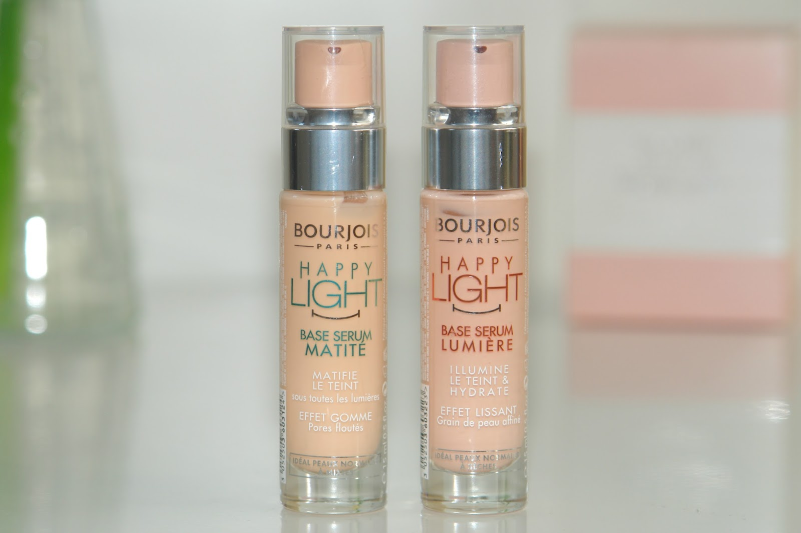 Bourjois Happy Light Primers review, Bourjois, make up, primer, review, swatches, UK beauty blog, Bourjois Happy Light Matte Serum Primer, Bourjois Happy Light Luminous Serum Primer