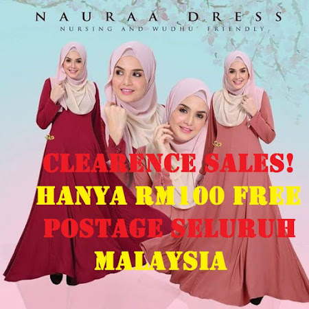 CLEARENCE SALES!! DRESS NAURAA BATCH 2. NURSING FRIENDLY  JUBAH IDAMAN RAMAI