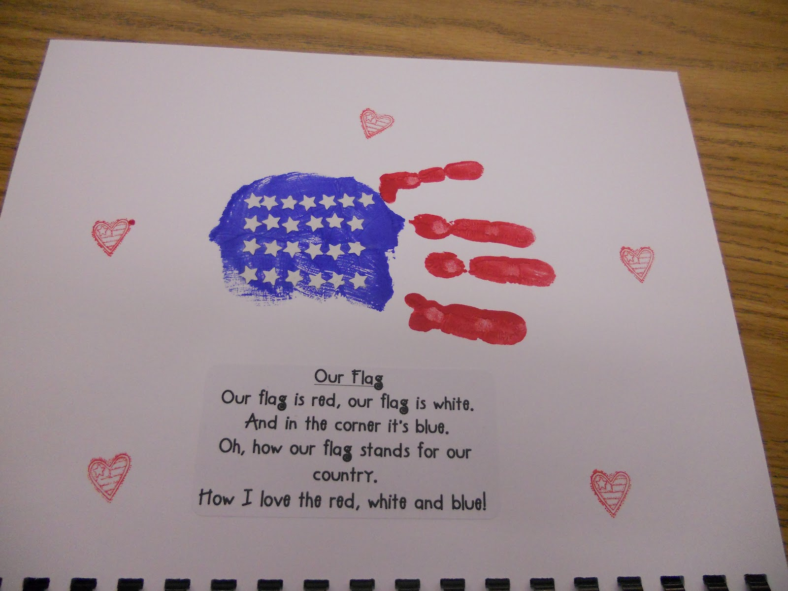 Hand Flag Arts And Craft
