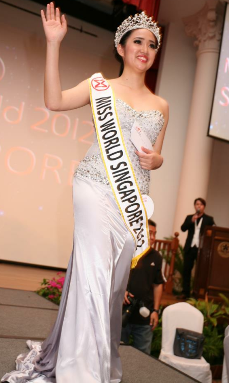 Miss Singapore World 2012 winner Karisa Sukamto