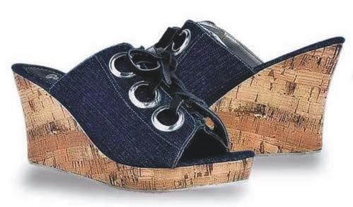 Sepatu: Wedges Giardino Lubang Tali Besar