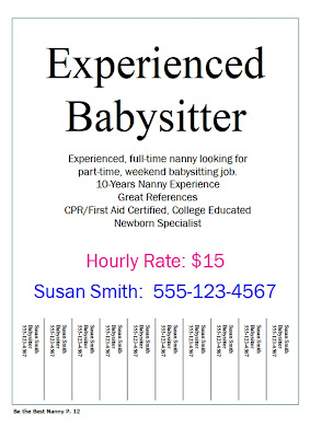 babysitting ads samples