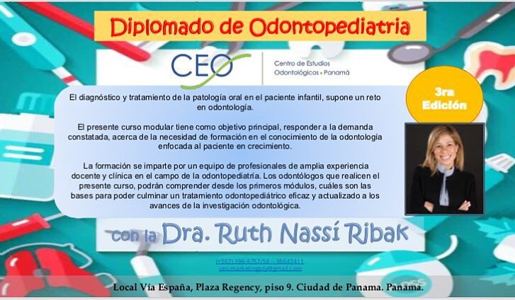 3er DIPLOMADO DE ODONTOPEDIATRIA CEO