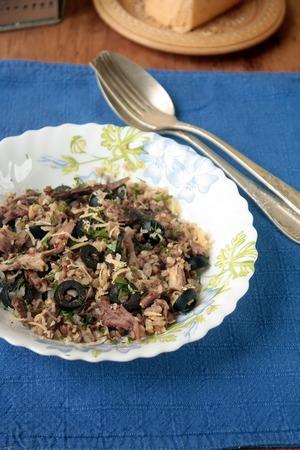 Теплый гречневый салат с уткой